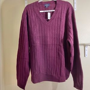 BrooksBros THICK Lambswool Sweater V-Neck XXL Flaw